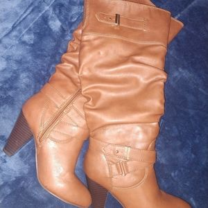 Rampage Boots, Cognac Size 7